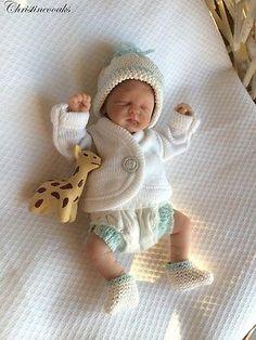 OOAK Hand Sculpted MINI Polymer Clay Baby Art Doll Miniature BOY