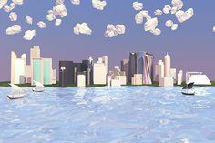 Doha, Qatar Skyline Commission on Behance