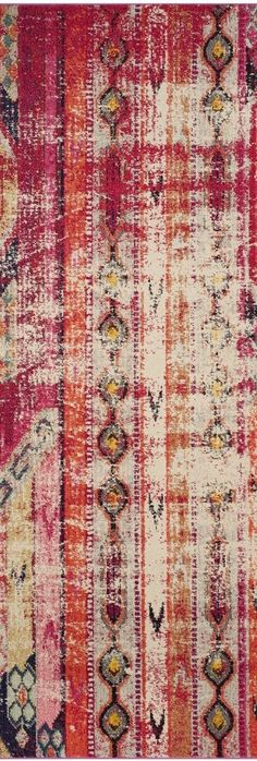 Features:  -Desai collection.  -Machine made.  -Power loomed.  -Style: Boho and feminine.  Technique: -Power Loom.  Material: -Wool.  Product Type: -Area Rug.  Primary Color: -Pink.  --