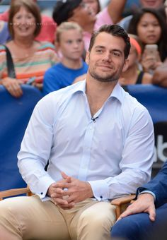 Henry Cavill and Armie Hammer at the Good Morning America