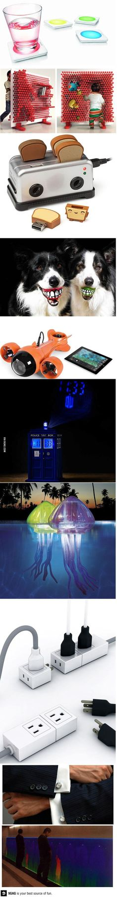 The world's coolest random gadgets. I want the tardis clock. Now.