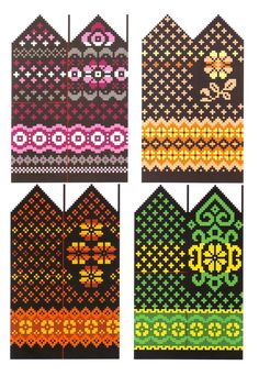 Жаккардовые узоры - вяжем варежки спицами - схемы Fingerless Mittens, Knit Mittens, Knitted Gloves, Knitting Socks, Knitting Charts, Knitting Patterns, Crochet Mittens Free Pattern, Chart Design, Fair Isle Knitting