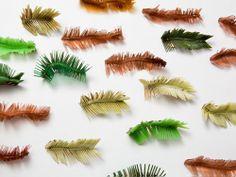 Ineke Heerkens Brooches: DENNENGRAAT, 2010 Plastic, Copper Various dimensions Photo: Eddo Hartmann