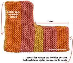 Resultado de imagen para medias tejidas a dos agujas para adultos