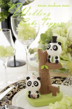 Panda cake topper Wish I would've had this for my wedding!