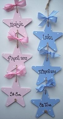 New Baby gifts, name plaques, wall hangers,