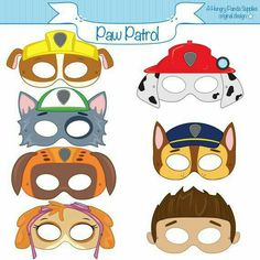 21 Paw Patrol Birthday Party Ideas - Paw Patrol Printable Masks If you are thinking of throwing your children a puppy party then these 21 Awesome Paw Patrol Party Ideas will have you being creative in no time at all. Paw Patrol Masks, Paw Patrol Party, Paw Patrol Birthday Cake, 4th Birthday Parties, Birthday Fun, Birthday Ideas, Birthday Decorations, Cumple Paw Patrol, Puppy Party