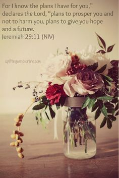 Jeremiah 29:11-my most fave scripture. Grateful His plans are better than what I can imagine :)
