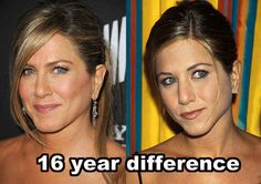 """and I find it VERY suspicious that another """"forever young"""" celebrity, Jennifer Aniston, was nominated for a Golden Globe. 24 Ways Satan Is Alive And Well Jennifer Aniston, Young Celebrities, Celebs, Photo Star, Brad Pitt And Angelina Jolie, Celebrity Plastic Surgery, Forever Young, Anti Aging Skin Care, Famous Faces"""