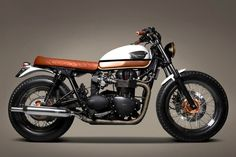 """Racing Cafè: Triumph Bonneville """"Urban Pearl"""" by Ton-Up Garage. I can see you on this JP."""