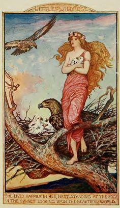 Little Wildrose, H.J. Ford Andrew Lang, The Crimson Fairy Book
