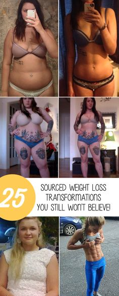 25 Sourced Weight Loss Transformations You Still Won\'t Believe!