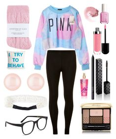 """""""Can I have a day off?"""" by haley-310 ❤ liked on Polyvore featuring Dorothy Perkins, Johnstons, Larke, NLY Accessories, Henri Bendel, NARS Cosmetics, Guerlain, Gucci, Essie and Alexandra Ferguson"""