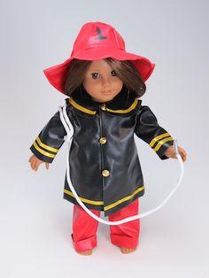 Trendy Dolls - Firefighter Costume For 18 Inch American Girl Dolls, $17.99 (http://www.mytrendydoll.com/firefighter-costume-for-18-inch-american-girl-dolls/)
