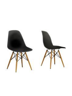 Design Studios Azzo Mid-Century Modern Chair (Set of 2)