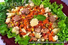 Bora fazer a saladinha do #almoço? A Salada de Couve Flor e Rúcula leva também atum, Maionese de Abacate, é muito nutritiva e deliciosa!  #Receita aqui: http://www.gulosoesaudavel.com.br/2013/05/20/salada-couve-flor-rucula/