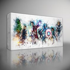 The Avengers Marvel Premium Giclee Canvas Art Print Choose Your Size Marvel Avengers, Marvel Art, Marvel Comics, Wall Art Pictures, Print Pictures, Marvel Canvas, Superhero Canvas, Canvas Art Prints, Canvas Wall Art