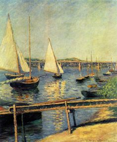 Gustave Caillebotte - Sailing boats at Argenteuil, 1888, oil on canvas