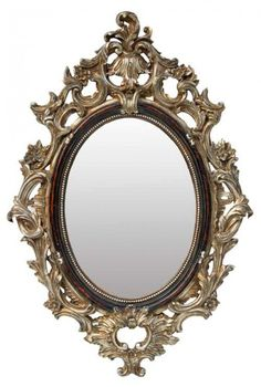 French Chic Roccoco Black Metalic Frame Ornate Baroque Mirror Gorgeous New