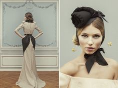 Oh heavens, everything about Ulyana Sergeenko's Spring 2013 collection is crazy-dramatic and wonderful. The cinched waists! The aprons! The embroidered details! The buttoned-up backs! Lovelovelove. | HonestlyWTF