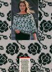 Мобильный LiveInternet Жаккардовый пуловер с розами | Марриэтта - Вдохновлялочка Марриэтты |