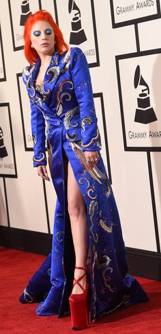 Pin for Later: Lady Gaga Goes Full-Tilt David Bowie at This Year's Grammy Awards