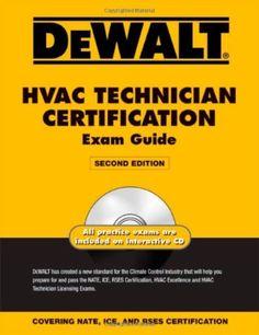 DEWALT HVAC Technician Certification Exam Guide With Practice Exam on CD #WorkbookStudyGuide