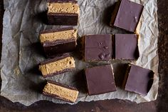 5-Ingredient Tripple Decker Chocolate Peanut Butter Bars   halfbakedharvest.com @hbharvest
