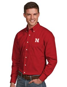 Nebraska Red Dynasty Button Down Shirt