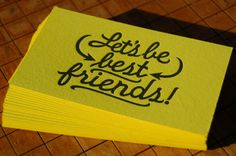 Yellow Black Letterpress Business Cards 500x332 Business Card Ideas and Inspiration #7