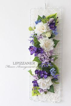 夏のご挨拶に♪フレッシュグリーンとパープルで涼やかに | LIPIZZANER Flower Arrangement Salon