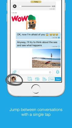 Quick contacts permits you to jump directly from one conversation to another