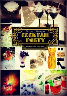 Feeling fancy? Why not throw a classy cocktail party to amaze your guests! This unique cocktail party ideas blog will help you plan an event that would make Gatsby jealous! #cocktail #vintage #classic
