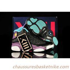 detailed look cd4ea 12e20 2013 Noir Violet vert Air Jordan 13 Retro Chaussures Femmes Nike Air  Jordans, New Jordans