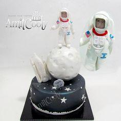 Space boy cake