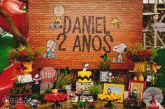 Uma festa linda inspirada no filme Snoopy & Charlie Brown - Peanuts.