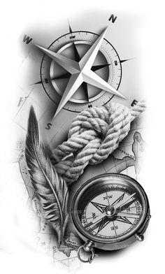 Shiva Tattoo Design, Clock Tattoo Design, Compass Tattoo Design, Tattoo Design Drawings, Tattoo Designs Men, Forarm Tattoos, Map Tattoos, Best Sleeve Tattoos, Arrow Tattoos