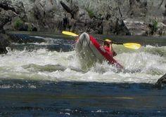 """Whitewater fun. I love IKs. """"Kayaking the Lower Klamath River."""""""