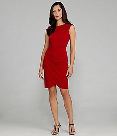 a862623161b London Times Ruched Jersey Cocktail Dress