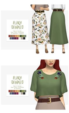 Downloads : https://nolan-sims.weebly.com/downloads/flora-finale-top-skirt-separates