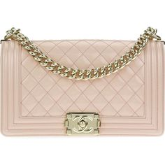 Pre-owned Chanel Light Pink Patent Leather Medium Boy Bag (€5.330) ❤ liked on Polyvore featuring bags, handbags, purses, chanel, bolsas, pink patent leather purse, man pouch bag, pink patent purse, light pink handbags and handbag purse