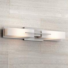 "Possini Euro Collection Midtown 23 1/2""-W Satin Bath Light - #T9726 | Lamps Plus"
