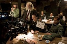 Inglorious Basterds set, Quentin Tarantino