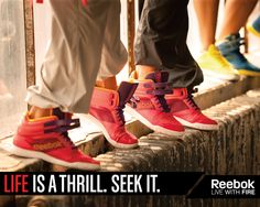 Life is a thrill, seek it...and look good while you're at it! #lesmills #reebok