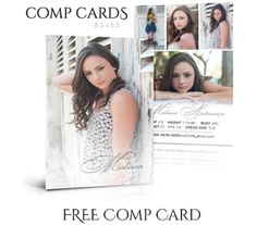 free comp card design