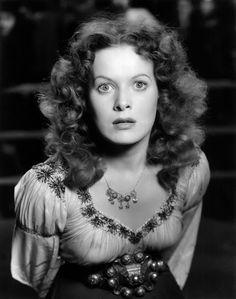 Maureen O'Hara -The Hunchback of Notre Dame 1939   . #vintage  . #celebrities