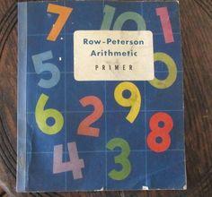 1952 arithmetic primer row paterson soft cover great illustrations repurpose GC