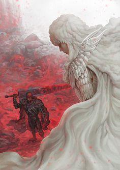 Tags: DigitalART Manga Fanart Anime Berserk Guts Gattsu Gatsu Black Swordsman Beast of Darkness Berserker Dragonslayer Branded Griffith Hawk of Darkness White Hawk