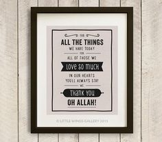 Digital Download We Thank You Oh Allah POP by LittleWingsGallery, $6.00