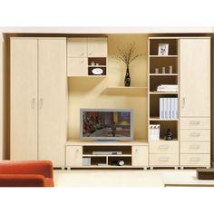 Home Room Design, Living Room Designs, House Design, Tv Unit Furniture, Furniture Design, Kitchen Furniture, Wadrobe Design, Tv Console Design, Furniture Dressing Table